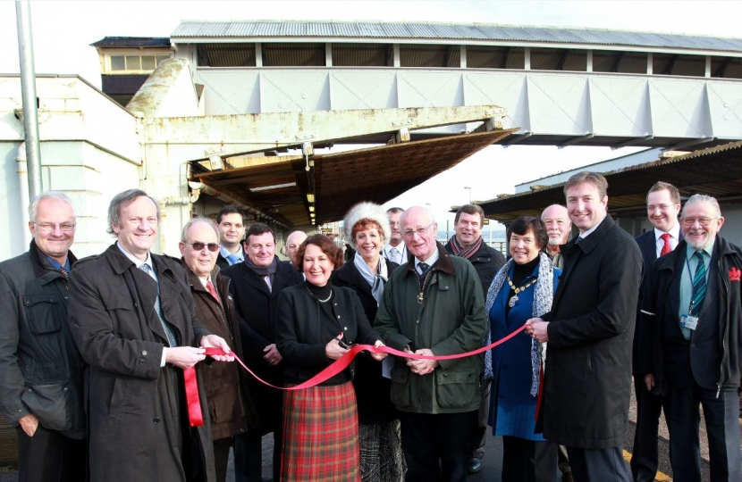 Dawlish train station footbridge replacement polymer Anne Marie Morris MP